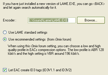 Lame Vbr Settings